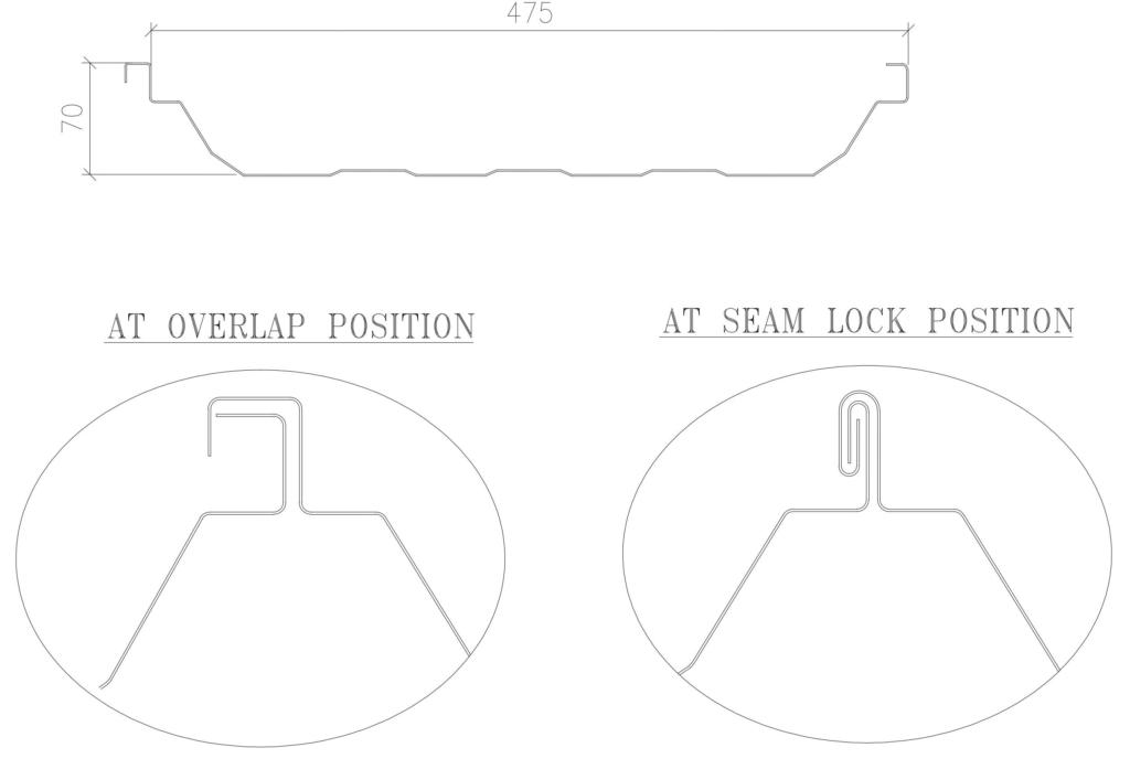 standing seam diagram